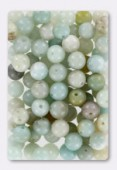 Amazonite Not Dyed Smooth Round Beads 6 mm x12