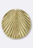 30mm Gold Plated Leaf Pendant x1