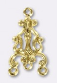 20x12mm Gold Plated Chandelier Stamping Pendant x1