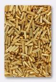 6mm Miyuki Bugle 24kt Gold Plated x5g