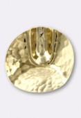 30mm Gold Plated Vienna Pendant x1