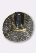 30mm Antiqued Brass Plated Vienna Pendant x1