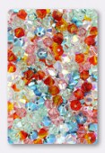 4mm Swarovski Crystal Bicone Beads 5328 Capri Mixi x50