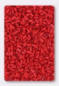 3mm Miyuki Bugle Opaque Red x10g