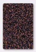 3mm Miyuki Bugle Matte Metallic Dark Rasp x10g