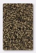 3mm Miyuki Bugle Matte Metallic Dark Bronze x10g