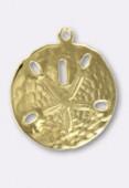 22 mm Gold Plated  Dollar Vichin Charm x1