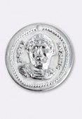 20mm Silver Plated Roman Medallion x1