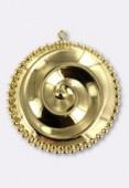 32mm Gold Plated Spiral Pendant x1