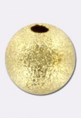8 mm Gold Plated Stardust Round Beads x2