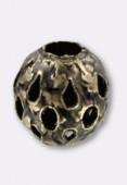 8 mm 8 mm Gold Openwork Round Beads x2