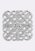 35x35mm Square Plated Square Filigree Stamping x1