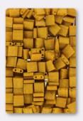 Miyuki Tila Beads TL-2312 matted opaque mustard x10g