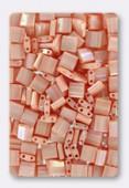 Miyuki Tila Beads TL-0596 opaque salmon luster x10g