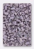 Miyuki Half Tila Beads HTL-0410FR matted opaque mauve AB x10g