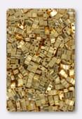 Miyuki Half Tila Beads HTL-0191 24kt gold plated x5g