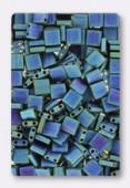 Miyuki Tila Beads TL-2064 matted metallic blue green iris x10g