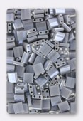 Miyuki Tila Beads TL-0443 opaque grey luster x10g