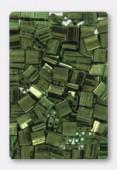 Miyuki Tila Beads TL-0306 olive green gold luster x10g