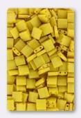 Miyuki Tila Beads TL-2311 matted opaque canary x10g