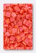 Miyuki Tila Beads TL-0406FR opaque orange AB x10g