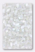 Miyuki Half Tila Beads HTL-0471 white pearl AB x10g