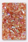 Miyuki Half Tila Beads HTL-4576 crystal orange rainbow x10g
