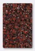 Miyuki Half Tila Beads HTL-4520 picasso opaque orange x10g