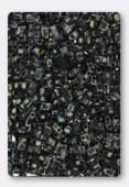 Miyuki Half Tila Beads HTL-4511 picasso opaque smoky black x10g