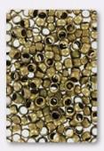 4mm Antiqued Brass Plated Crimp Beads x5gr