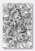 10mm Silver Plated Open Jump Rings Findings x12