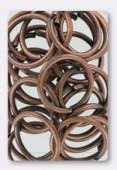 20mm Antiqued Copper Plated Open Jump Rings Findings x4