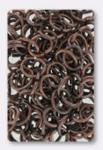 7x10mm Antiqued Copper Plated Open Jump Rings Findings x 24