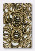 12mm Antiqued Brass Plated Open Jump Rings Findings x12