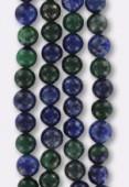 Azurite Chrysocolle Round Beads 6mm x12