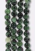 6mm China Ruby Zoisite Round Beads x6