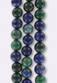 Azurite Chrysocolle Round Beads 8 mm x6