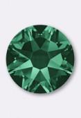 4mm Austrian Crystals Hotfix Flatback Rhinestones 2038 SS16 Emerald HF x50