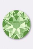 3mm Swarovski Crystal Hotfix Flatback Rhinestones 2038 SS10 Chrysolite M HF x50