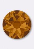 7mm Swarovski Crystal Hotfix Flatback Rhinestones 2038 SS34 Crystal copper M HF x12