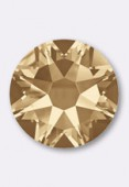 3mm Swarovski Crystal Hotfix Flatback Rhinestones 2038 SS10 Crystal Golden Shadow M HF x50
