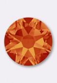 7mm Swarovski Crystal Hotfix Flatback Rhinestones 2038 SS34 Fire Opal M HF x12