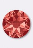 3mm Swarovski Crystal Hotfix Flatback Rhinestones 2038 SS10 Padparadscha M HF x50