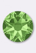 4mm Swarovski Crystal Hotfix Flatback Rhinestones 2038 SS16 Peridot M HF x50