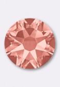 3mm Austrian Crystals Hotfix Flatback Rhinestones 2038 SS10 Rose Peach M HF x50