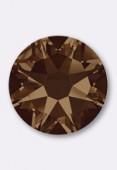 7mm Swarovski Crystal Hotfix Flatback Rhinestones 2038 SS34 Smoked Topaz M HF x12