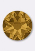 4mm Swarovski Crystal Hotfix Flatback Rhinestones 2038 SS16 Topaz M HF x50