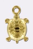 Breloque tortue 10x7 mm plaqué or 24K 3 microns x1