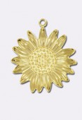 15x9mm Gold Plated Pineapple Charms x1