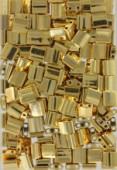 Miyuki Tila Beads TL-0191 24 kt gold plated x5g